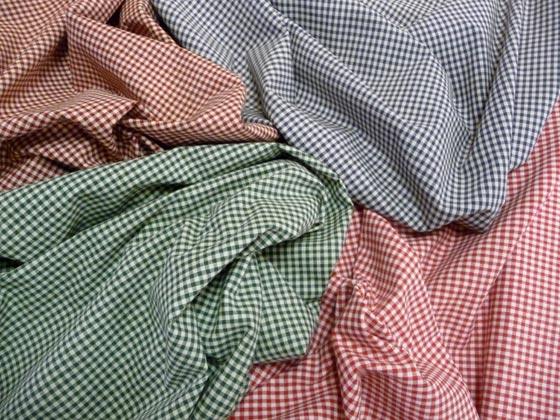 sehr schöner gewebter Karo - Baumwollstoff in verschiedenen Farbstellungen