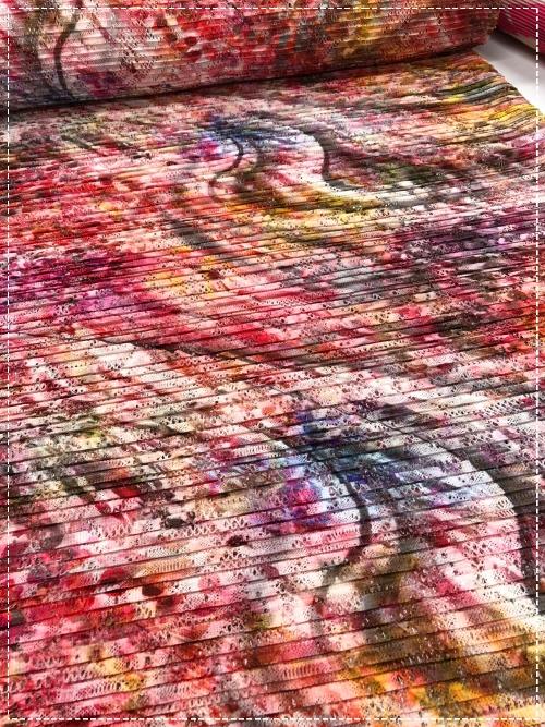 bedruckter Spitzenplissee, neu aus Italien