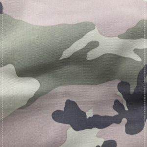 gestretchter, bedruckter Baumwollstoff mit Camouflagemuster